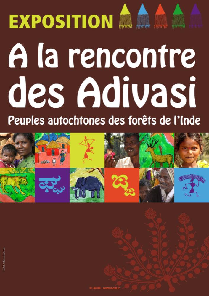 Affiche exposition Rencontre avec les Adivasi