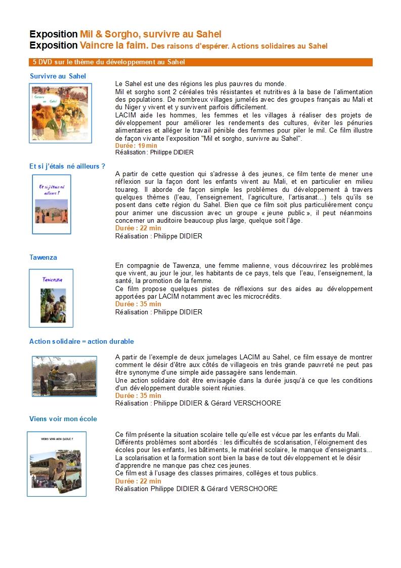 Résumés des films LACIM Sahel