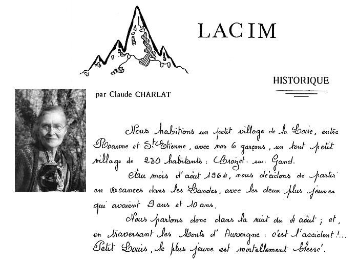 Historique Mme Charlat