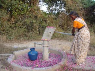Fontaine pétales